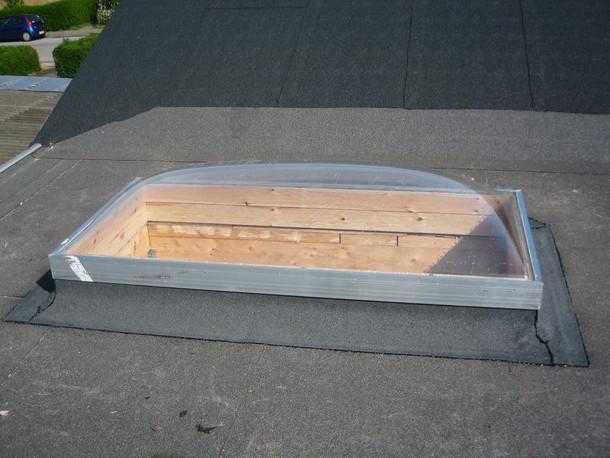 Montering af ovenlysvindue